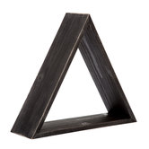 Black Triangular Wood Wall Shelf